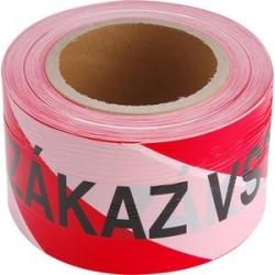 Páska ZÁKAZ VSTUPU 75 mm x 250 m červeno biela