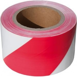 Výstražná páska červeno biela 80 mm x 250 m