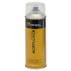 Akrylová farba čierna matná RAL9005 400 ml sprej Gebol