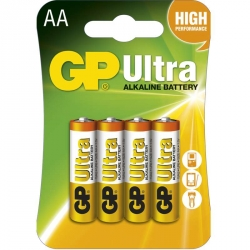 GP Batéria Ultra Alkalická AA 1,5V balenie 4ks
