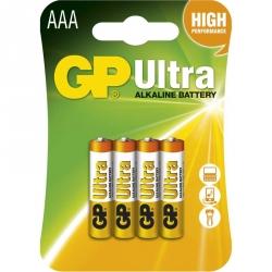 GP Batéria Ultra Alkalická AAA 1,5V balenie 4ks