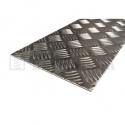 Hliníkový plech 500x1000x2/3,5 mm protišmykový slzičkový neeloxovaný