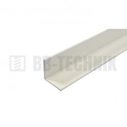Plastový profil L 15x15x2x2000 mm biely