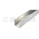 Hliníkový profil U 10x10x2,0x2000 mm neeloxovaný