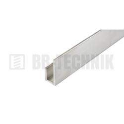 Hliníkový profil J 16x23x10x2000 mm neeloxovaný