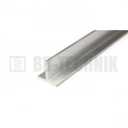 Hliníkový profil T 15x15x2,0x2000 mm neeloxovaný