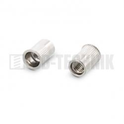 Nitovacia matica M 6 NEREZ A2 mikrohlava ryhovaná pre hrúbku materiálu 0,5-3,0mm
