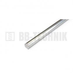 Hliníková tyč hladká okrúhla D 6x2000 mm neeloxovaná