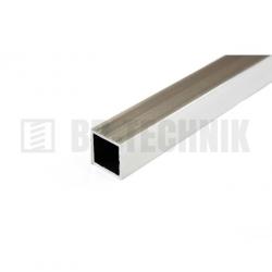 Hliníkový profil štvorcový 25x25x2,0x2000 mm neeloxovaný