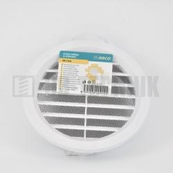 Vetracia mriežka so sieťkou okrúhla 110 mm biela HACO