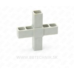 Spojka krížová plastová 20x20 mm