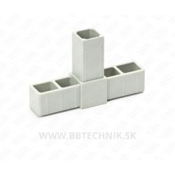 Spojka hliníkových profilov T kus plastový 20x20 mm