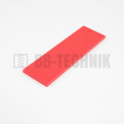 Podložka plastová dištančná 3 mm červená