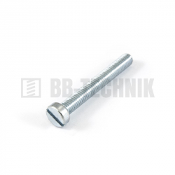 DIN 84A M 3x30 4.8 ZN skrutka s valcovou hlavou s rovnou drážkou