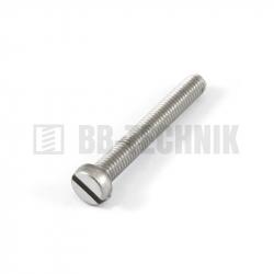 DIN 84A M 6x45 A2 nerezová skrutka s valcovou hlavou s rovnou drážkou