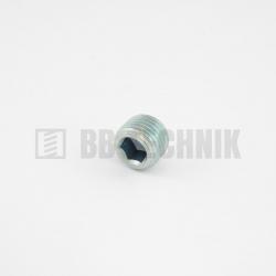 """DIN 906 R 1/4"""" zátka s kruhovým kužeľovým závitom"""