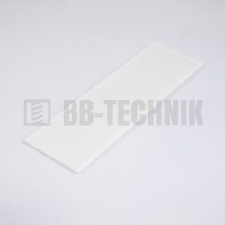 Podložka plastová dištančná 1 mm biela