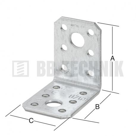 Uholník bez prelisu 105x105x90 mm