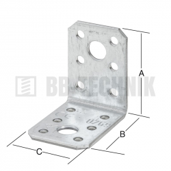 Uholník bez prelisu 70x70x55 mm