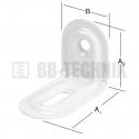 Uholník nastavitelný 39x28x23 mm ozdobný biely
