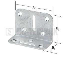 Uholník nastaviteľný 70x50x35 mm