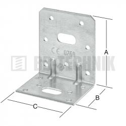 Uholník nastavitelný 75x48x65 mm