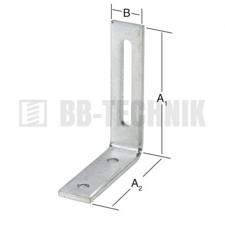 Uholník nastaviteľný 80x65x20 mm