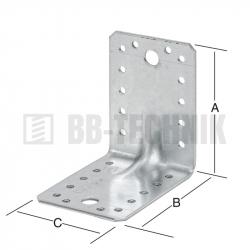 Uholník s prelisom 70x70x55 mm vystužený