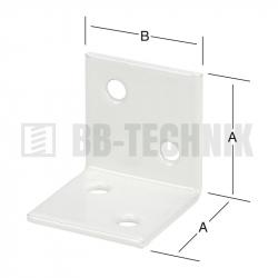 Uholník široký 30x30 mm biely