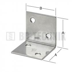 Uholník široký 30x30 mm NEREZ