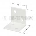 Uholník široký 40x40 mm biely