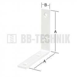 Uholnik stolársky 100x100x20 mm biely