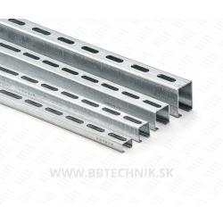 Nosník 27/18x2000 mm hrúbka 1.25 mm ZN