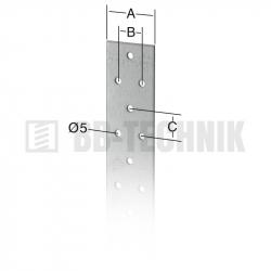 Zavetrovací pás 40x20x20x2,0 mm dĺžka 50 m