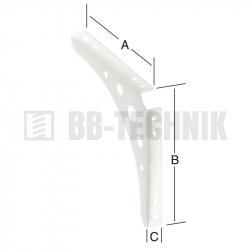 Policová konzola Delta Line 300x300x24,5 mm biela