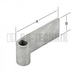 Záves 100x40 mm 13 mm navarovací