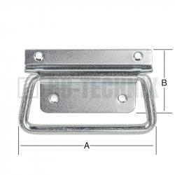 Rukoväť bedňová sklopná 105x45 mm