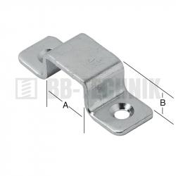 Pliešok U 20x9x1,5 mm k zástrči