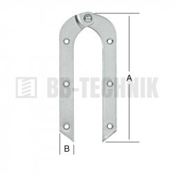 Pánt rebríkový 200x21 mm