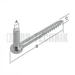 Pánt štiftový 13x110x12 mm závrtný