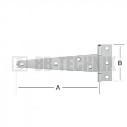 Pánt T valcovaný 200x38 mm