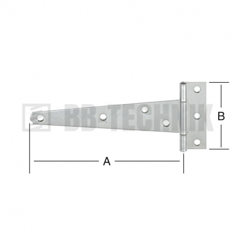 Pánt T valcovaný 200x73 mm
