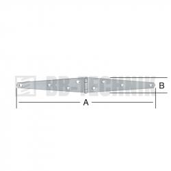 Pánt valcovaný 192x29 mm trojuholníkové ramená