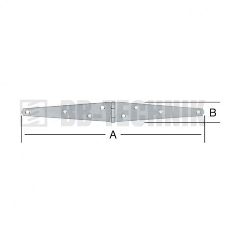 Pánt valcovaný 100x30 mm trojuholníkové ramená