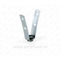Záves-V trapézový s gumovým tlmičom - diera 8 mm