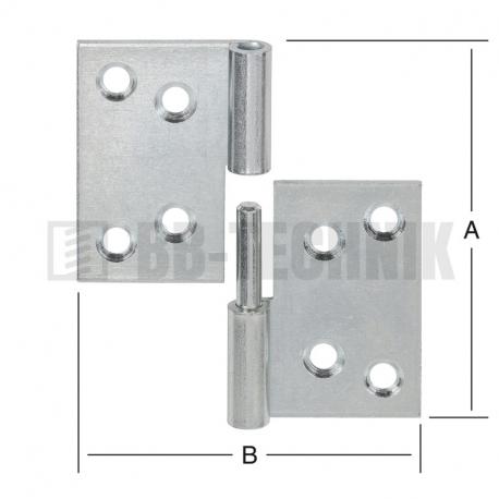 Pánt valcovaný rozoberateľný 60x80 mm