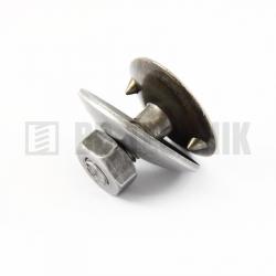 DIN 15237 korčeková skrutka s podložkou a maticou