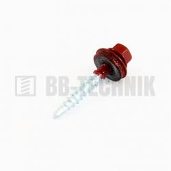 Farmárska skrutka 4,8x35 RAL 3011 červená