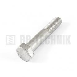 DIN 931 M 8x80 A2 nerezová skrutka so 6-hrannou hlavou s čiastočným závitom
