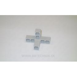 Spojka hliníkových profilov T kus s výstupom plastový 25x25 mm